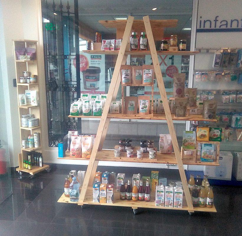 Gondola para farmacia de madera