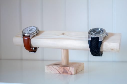Porta relojes de madera
