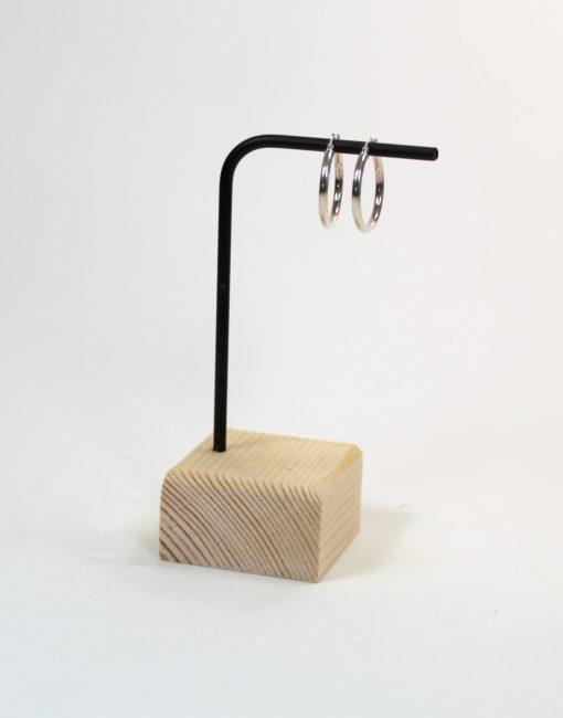 Expositor pendientes de madera