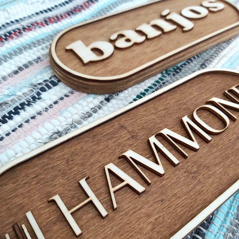 Carteles de madera personalizados