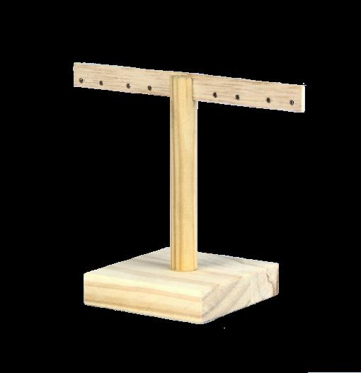 Colgador de pendientes de madera ecológica 1
