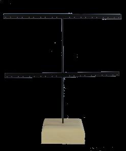 Organizador pendientes de metal y madera