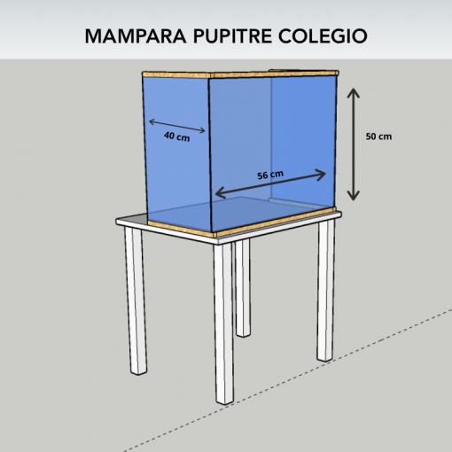 Mampara colegio (medidas pupitre escolar)