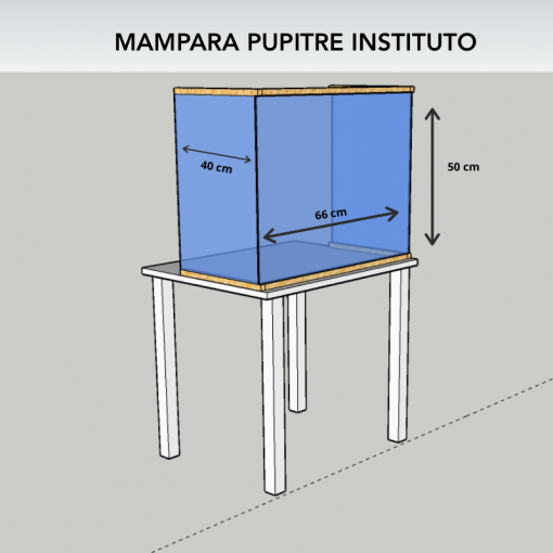 Mampara instituto