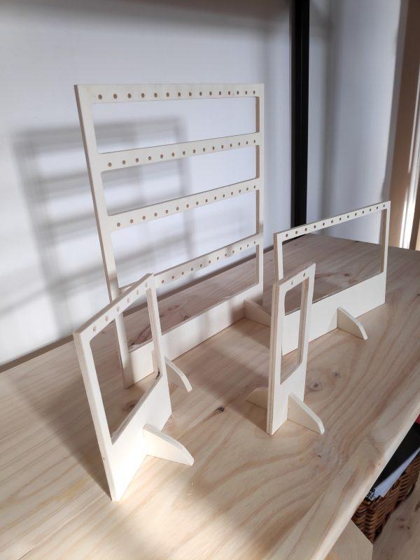 Expositores para pendientes baratos de madera
